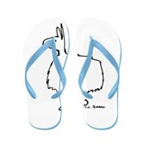 Cute Llama Flip Flops