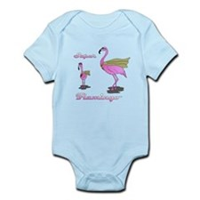 Super Flamingo Infant Bodysuit