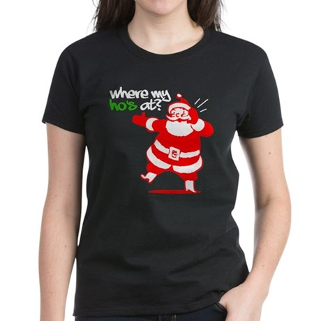 Where My Ho's At? - Women's Dark T-Shirt