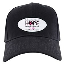 Hope For My 2 Breast Cancer Baseball Hat
