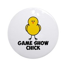 Game Show Chick Ornament (Round)