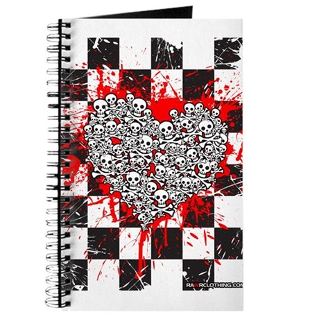 Emo Ska Skull Heart Journal
