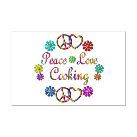 Peace Love Cooking Mini Poster Print