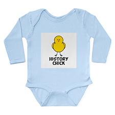 History Chick Long Sleeve Infant Bodysuit