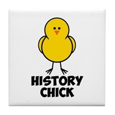 History Chick Tile Coaster