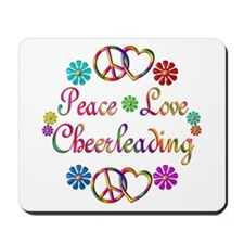 Peace Love Cheerleading Mousepad
