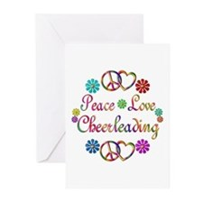 Peace Love Cheerleading Greeting Cards (Pk of 20)