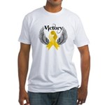 Victory Neuroblastoma Fitted T-Shirt