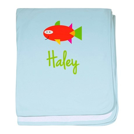 Haley is a Big Fish baby blanket