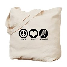 Peace Love Lacrosse Tote Bag