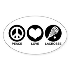 Peace Love Lacrosse Decal
