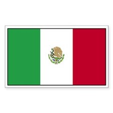 Mexico Flag Decal Rectangle Decal