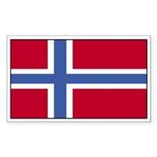 Norway Flag Decal Rectangle Decal