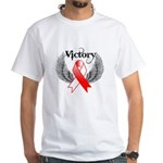 Victory Oral Cancer White T-Shirt