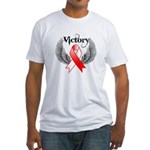 Victory Oral Cancer Fitted T-Shirt