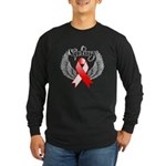 Victory Oral Cancer Long Sleeve Dark T-Shirt