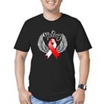 Victory Oral Cancer Men's Fitted T-Shirt (dark)