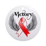 Victory Oral Cancer Ornament (Round)