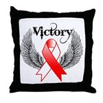 Victory Oral Cancer Throw Pillow