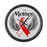 Victory Oral Cancer Large Wall Clock