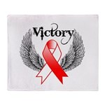 Victory Oral Cancer Throw Blanket