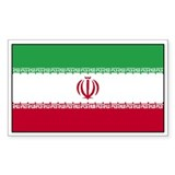Iran Flag Decal Rectangle Decal