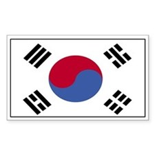 Korea Flag Decal Rectangle Decal