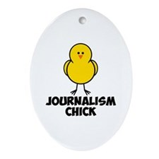 Journalism Chick Ornament (Oval)