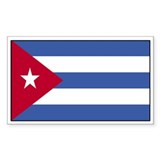 Cuba Flag Decal Rectangle Decal