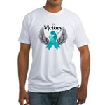 Victory Ovarian Cancer Fitted T-Shirt