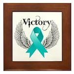 Victory Ovarian Cancer Framed Tile