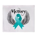 Victory Ovarian Cancer Throw Blanket