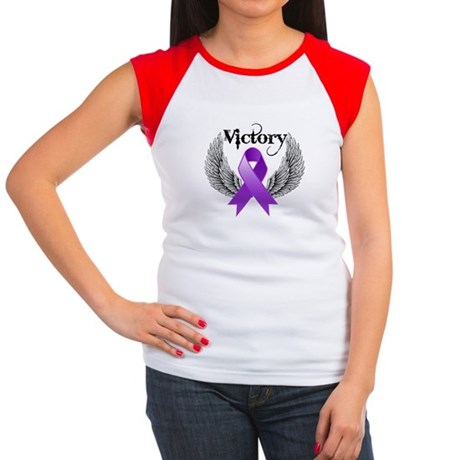 Victory Pancreatic Cancer Women's Cap Sleeve T-Shi