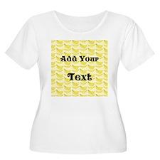 Banana Pattern with Custom Te T-Shirt
