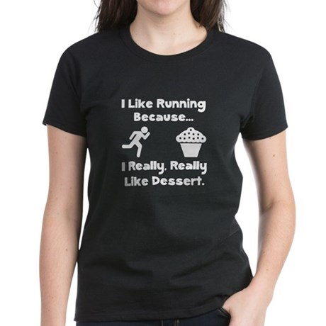 Running Dessert Women's Dark T-Shirt