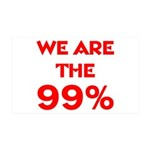 WE ARE THE 99% 38.5 x 24.5 Wall Peel