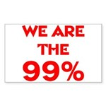 WE ARE THE 99% Sticker (Rectangle 50 pk)