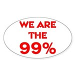 WE ARE THE 99% Sticker (Oval)
