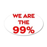 WE ARE THE 99% 38.5 x 24.5 Oval Wall Peel