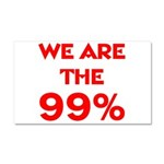 WE ARE THE 99% Car Magnet 20 x 12