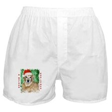 Golden Christmas Boxer Shorts