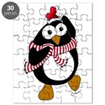 Cartoon Christmas Penguin Puzzle