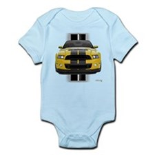 New Mustang GT Yellow Infant Bodysuit