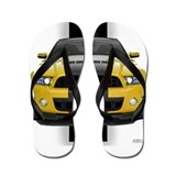New Mustang GT Yellow Flip Flops
