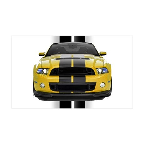 New Mustang GT Yellow 38.5 x 24.5 Wall Peel