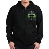 New Mustang Green Zip Hoody