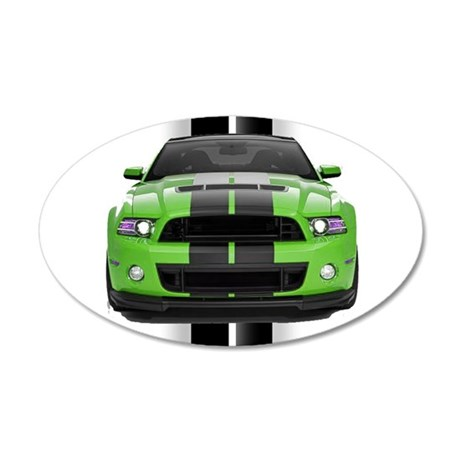 New Mustang Green 22x14 Oval Wall Peel
