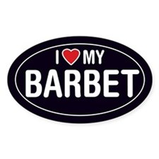 I Love My Barbet Oval Sticker/Decal