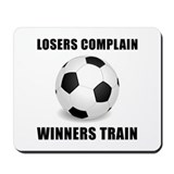 Soccer Winners Train Mousepad