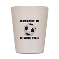 Soccer Winners Train Shot Glass